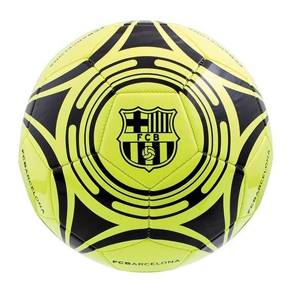 FC Barcelona - Balón de Fútbol Fluo (Talla 5/Amarillo): Amazon.es ...