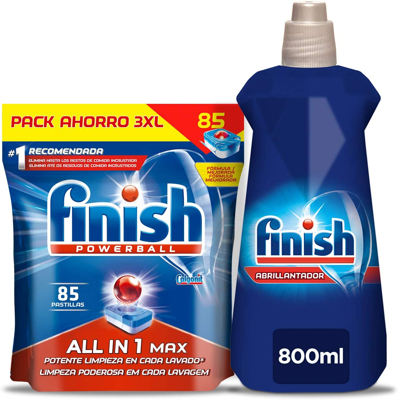 Finish Todo en 1 Max Regular Pastillas para Lavavajillas 85 ...