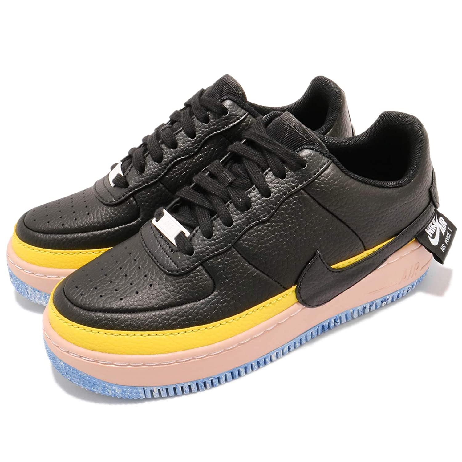 buy popular 59495 c21f9 Amazon.com   Nike Women s WMNS Air Force 1 Jester XX SE, Black Sonic Yellow    Fashion Sneakers