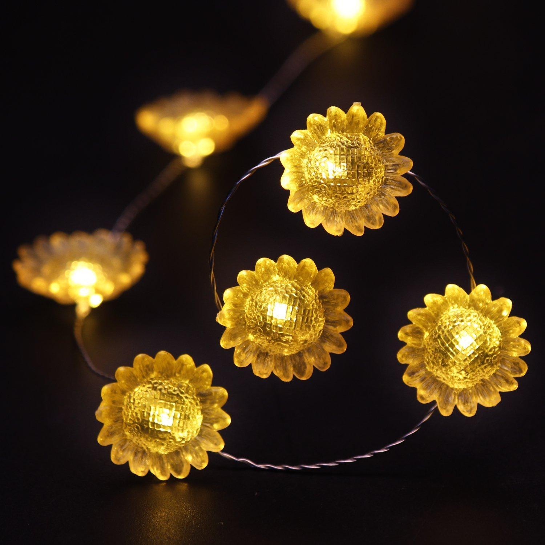 Amazon.com : Impress Life Garden Decorating Lights String, Sunflower ...