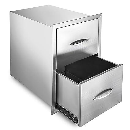 Amazon Com Mophorn 18 X24 Outdoor Kitchen Drawer Stainless Steel