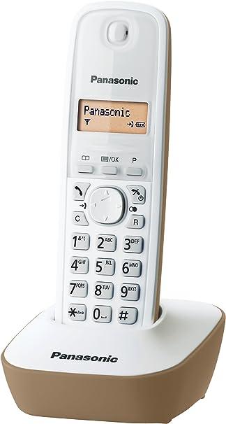 Panasonic KX-TG1611 - Teléfono (DECT, 50 entradas, Identificador de Llamadas) Color Blanco, Beige [Versión Importada]: Panasonic: Amazon.es: Electrónica