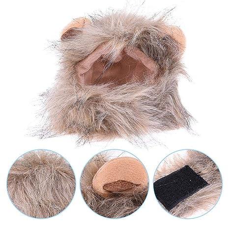 iBelly-ani Peluca de Mascota para Perros Pequeños y Gatos Mascota Costume para Actividad de