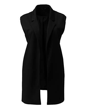65cd9a85a02516 Simply Be Womens Sleeveless Boyfriend Blazer  Amazon.co.uk  Clothing