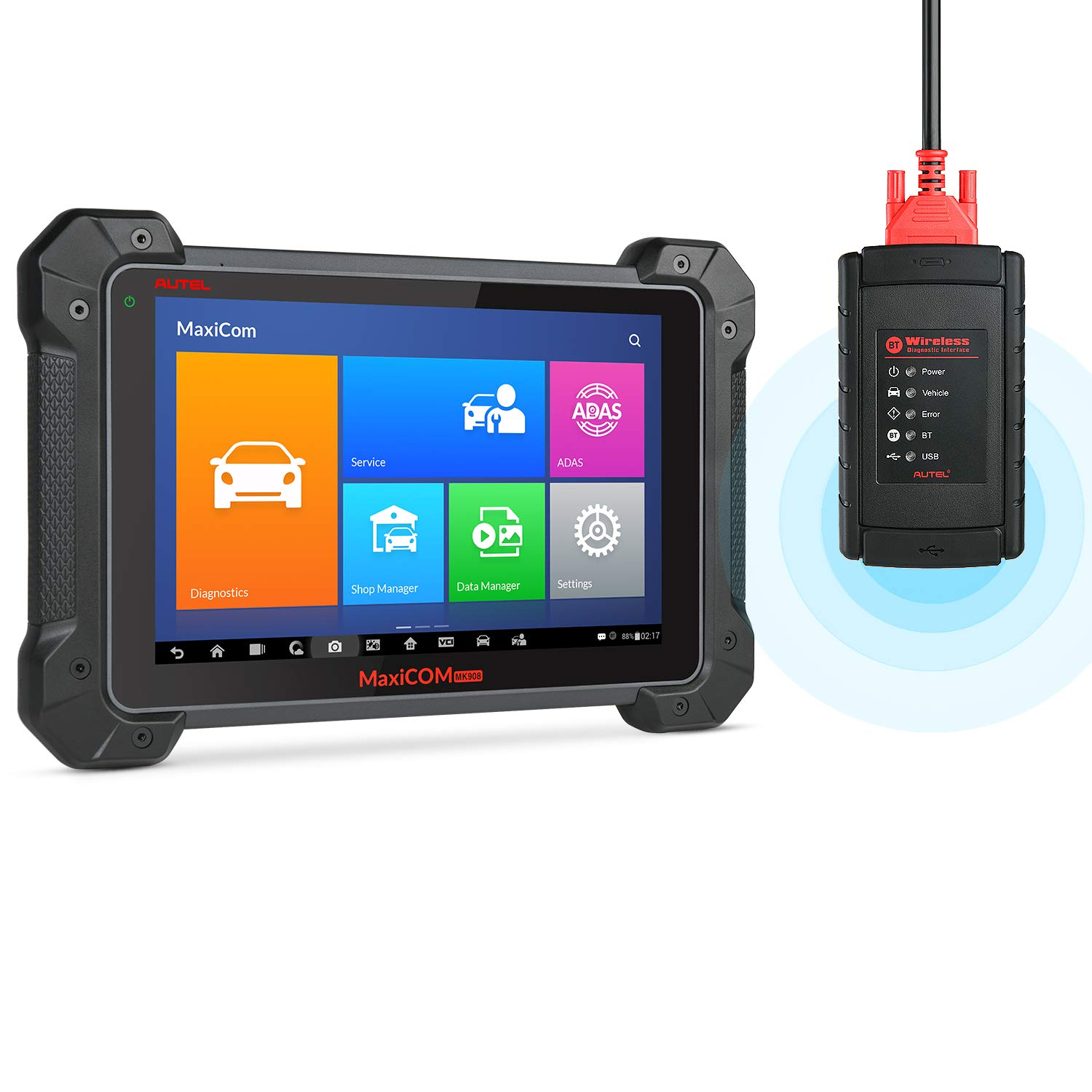 Autel MK908 Diagnostic Scanner (Upgraded MaxiSys MS908 MK808) with ECU  Coding, Bi-Directional Control, with Fuel Injector/Fuel sync, Active Test,  Key
