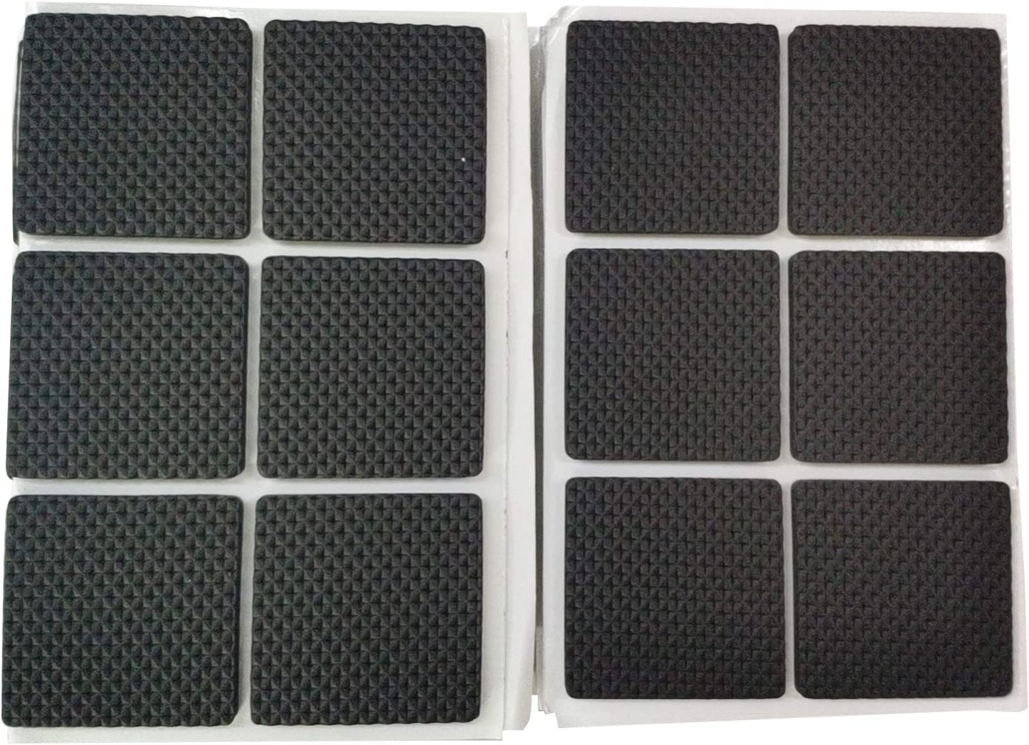 Antrader 48pcs Non-Slip Furniture Pads Multifunction Self Adhesive Sticky Floor Protector Mat Table Chair Sofa Feet Black Square 1.5