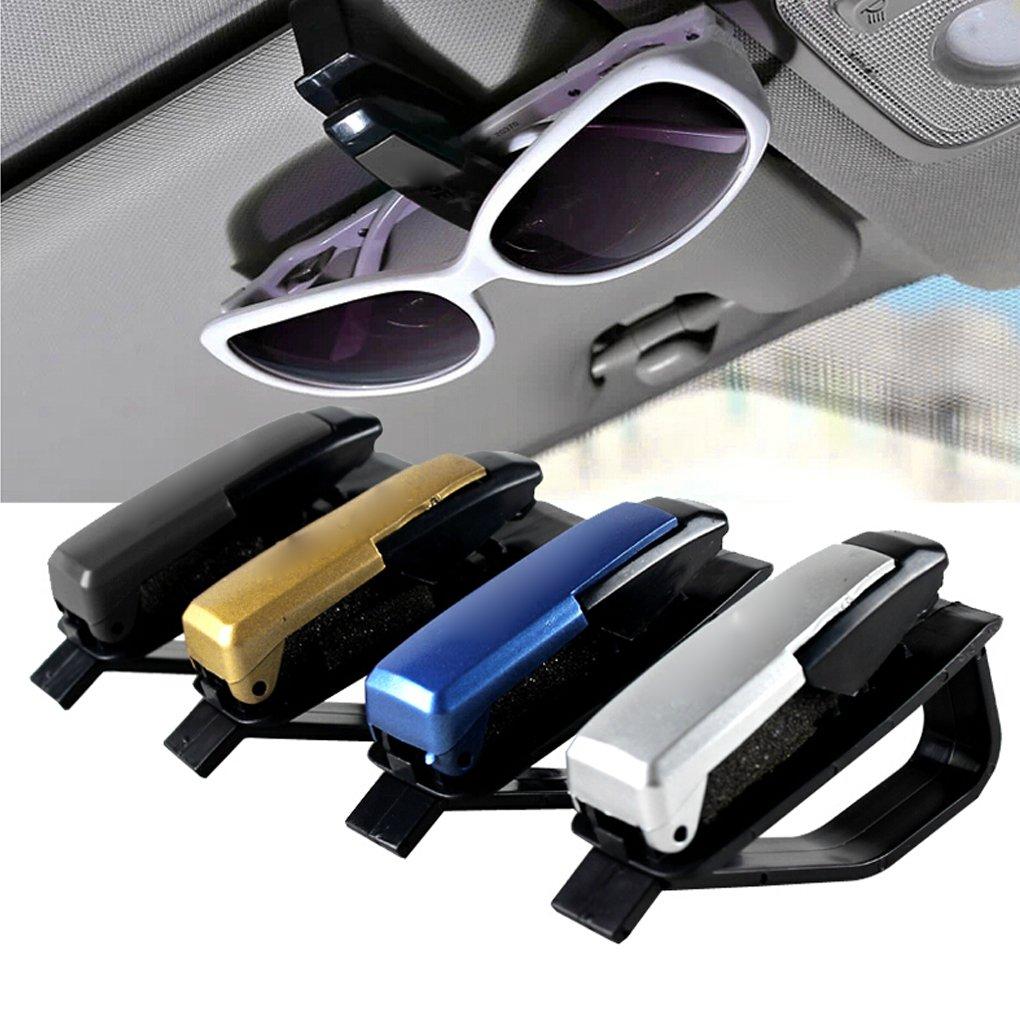 GOTTING Lunettes de soleil lunettes soleil visière carte stylo clip voiture accessoire argent BSmb9nJHHe