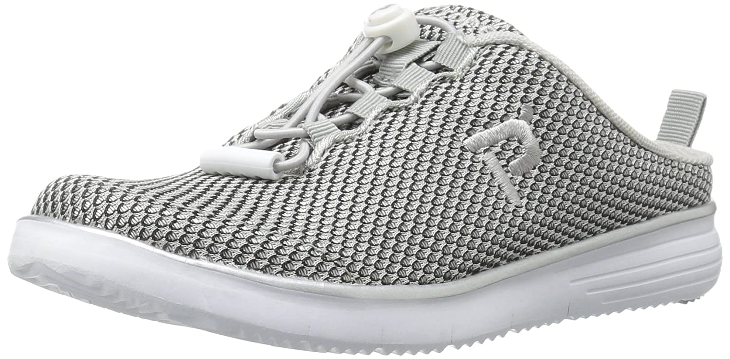 Propet Women's TravelFit Slide Walking Shoe B01IOEXPPK 9.5 B(M) US|Silver/Black