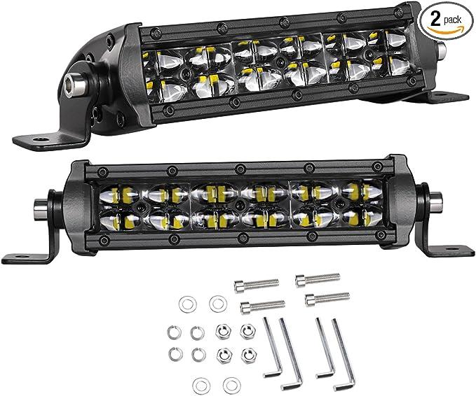 "10X 6/""inch 18W LED Work Light Bar Flood Stripe Driving Truck Offroad Single Row"