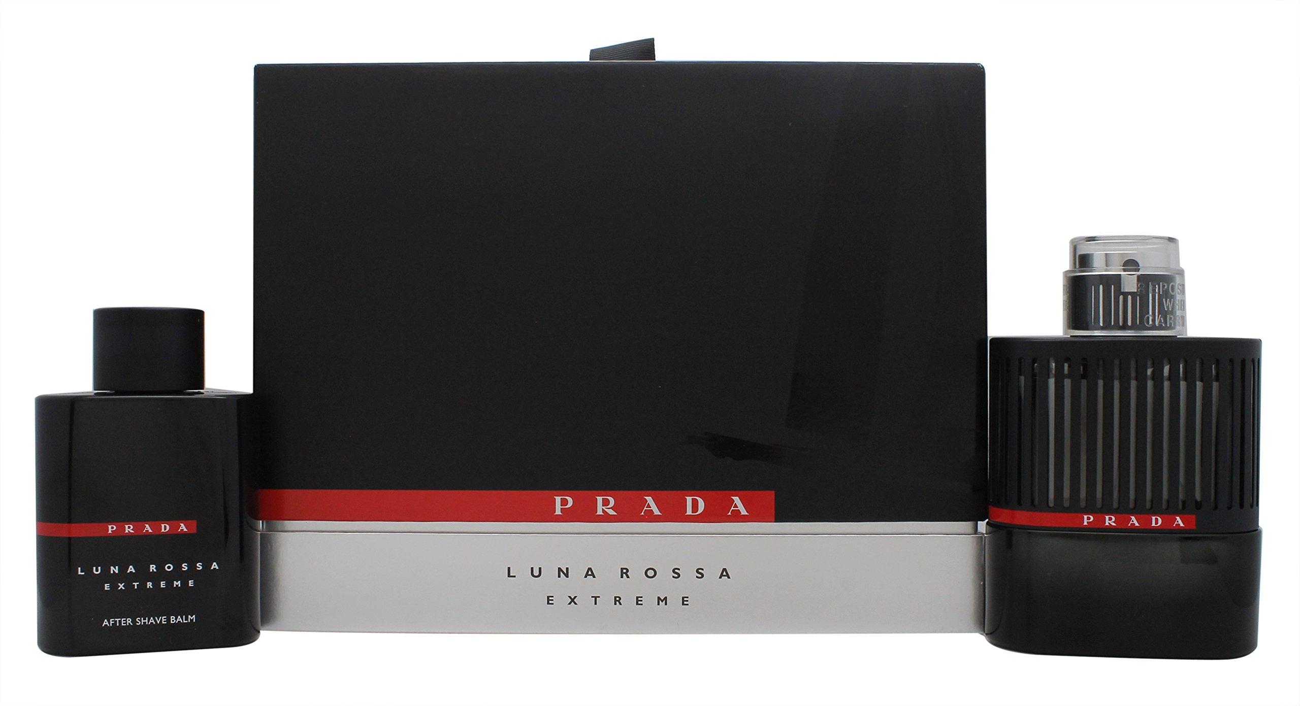 Prada Luna Rossa Extreme Pour Homme 2 Piece Set Includes: 3.4 oz Eau de Parfum Spray + 3.4 oz After Shave Balm