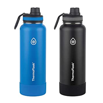 Amazon.com: ThermoFlask Botella de agua de acero inoxidable ...