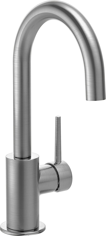 Delta Faucet Trinsic Single-Handle Bar-Prep Kitchen Sink Faucet, Arctic Stainless 1959LF-AR