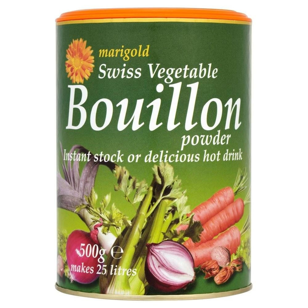 Marigold Swiss Vegetable Bouillon Powder (500g) Green - Pack of 6 by Marigold (Tins)