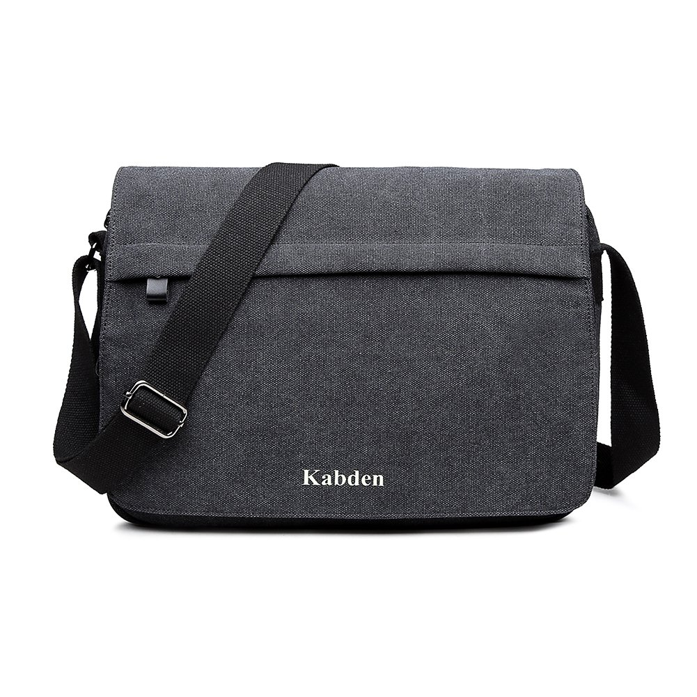 Topfox Men's Multifunctional Canvas Messenger Handbag Outdoor Sports Military Over Shoulder Cross-body Side Bag With Large Capacity