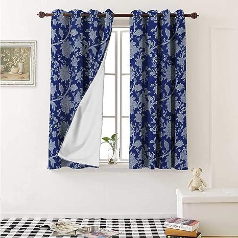 Amazon.com: shenglv Floral Decorative Curtains for Living ...