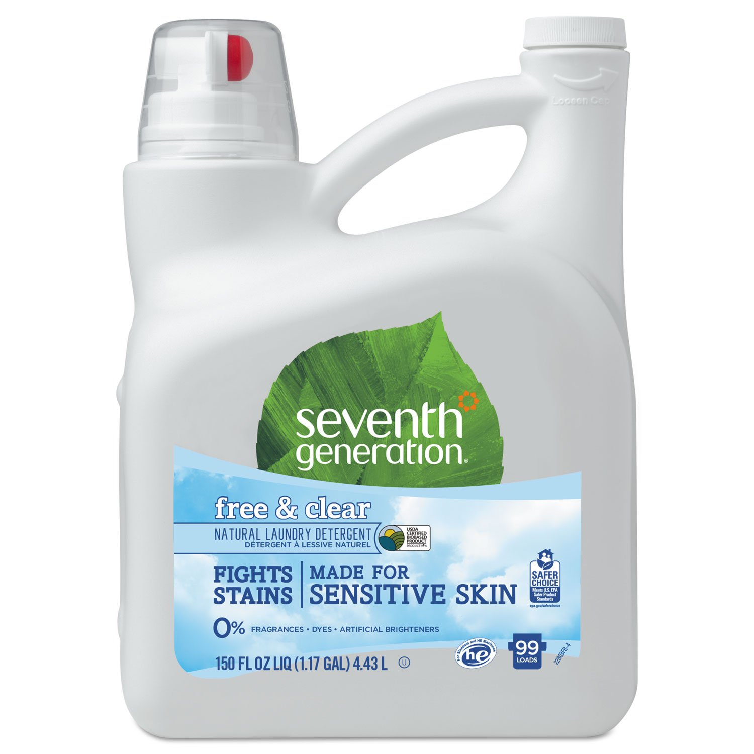 Seventh Generation 150 oz. High Efficiency Liquid Laundry Detergent, Clear, SEV 22803 by Seventh Generation