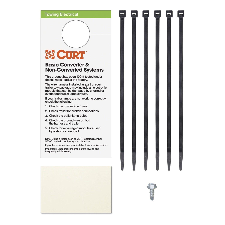 Curt 55124 Custom Wiring Harness Automotive Installed