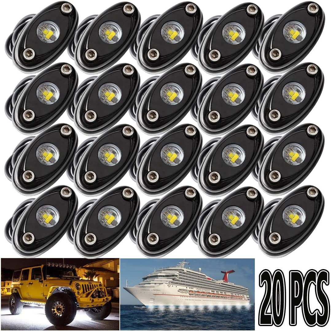 LEDMIRCY LED Rock Fashion Lights White 20PCS for Off ep RZR Je Max 47% OFF Ro Trucks