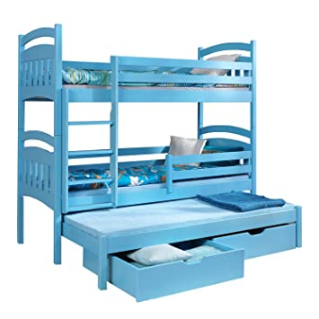 Ye Perfect Choice Max Triple Bunk Bed Made From Pine Wood 27