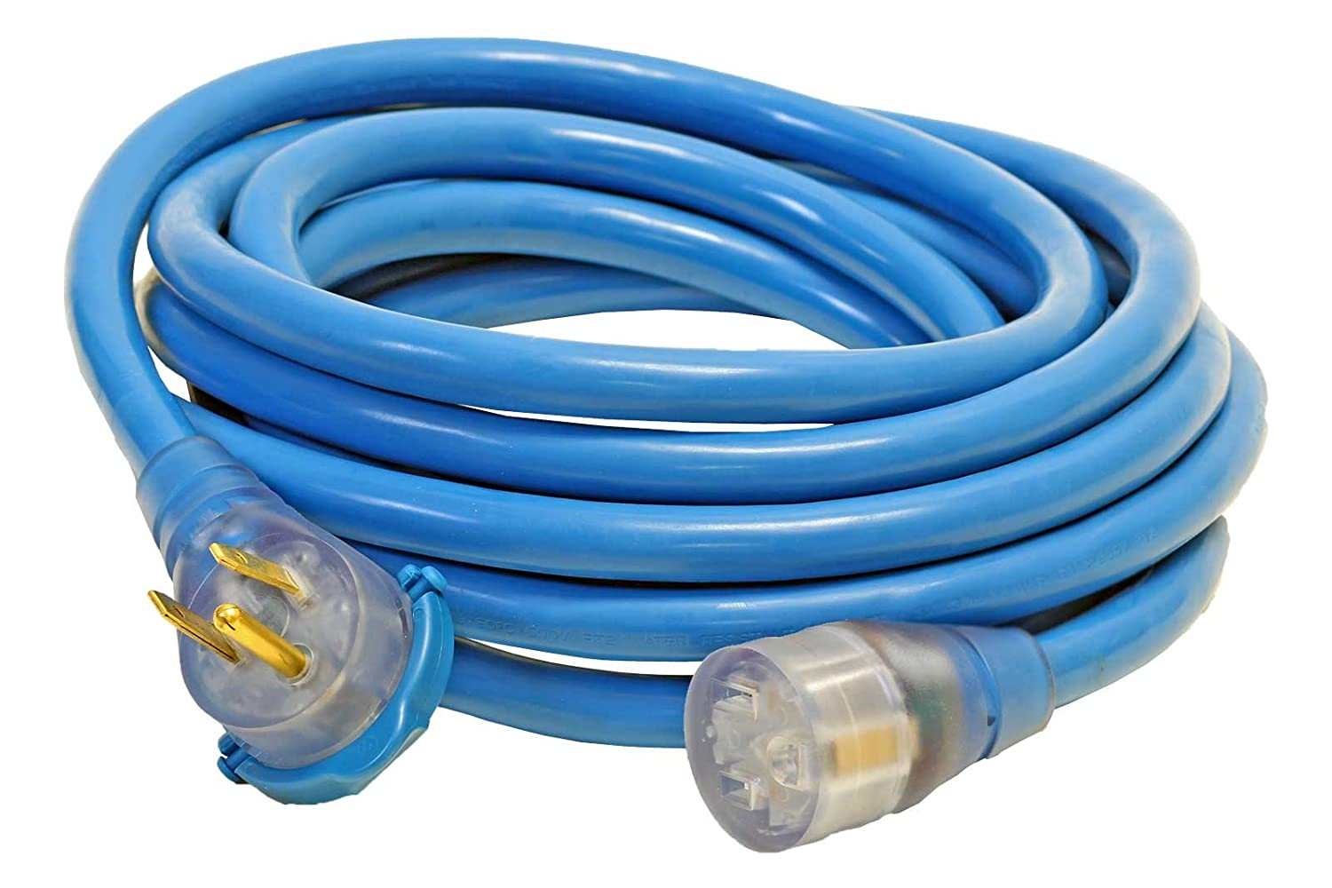 25-Foot 8/3 STW 6-50 Welder Extension Cord, Blue, Your Name Printed ...