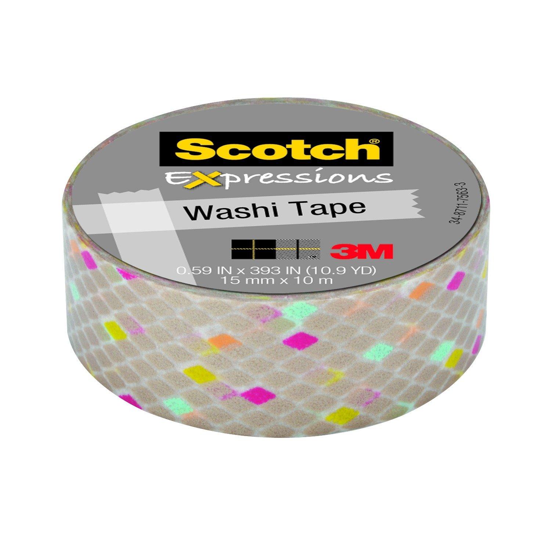 Scotch Expressions Nastro Decorativo 3M, 2 Pezzi, Marrone/Rosa Glitter 3MITA KK1510MP