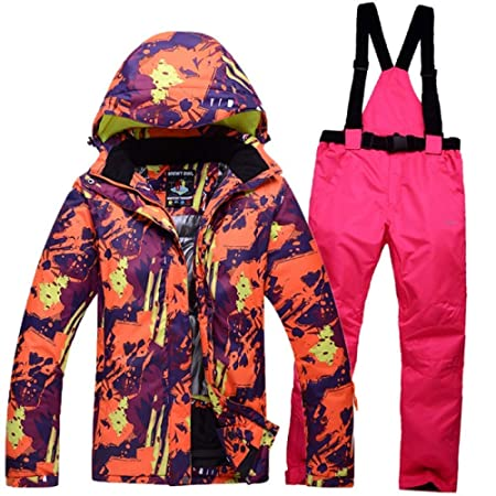 e3a04176ac ski suit Winter Men s Ski Jacket Suits Outdoor Lovers Snow Coat Thermal  Skiing Pants Waterproof Breathable Skiwear For Women  Amazon.co.uk  Kitchen    Home