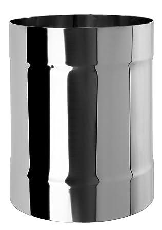 Acero inoxidable chimenea maletero hembra conector Multi combustible Unión de tubos estufa adaptador acoplador kj33, plateado, KJ33/160: Amazon.es: ...