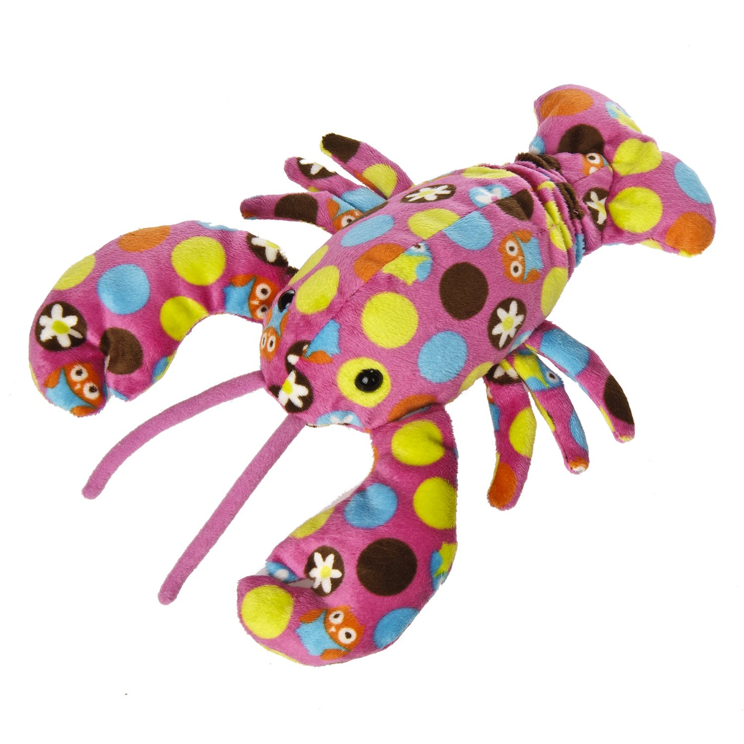 Mary Meyer 7.5 Hoots Pink Print Lobster Plush 43493