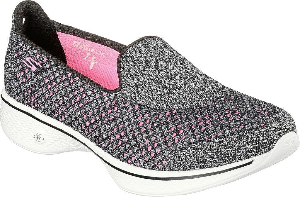 Skechers, Damen Sneaker Go Walk 4 Kindle, knöchelfrei, Schwarz, Größe 40, schwarz pink Größe: 36 EU CD