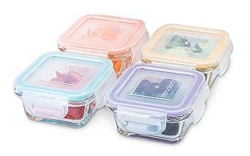 Amazoncom Glass Baby Food Storage Containers 4 oz BPA Free