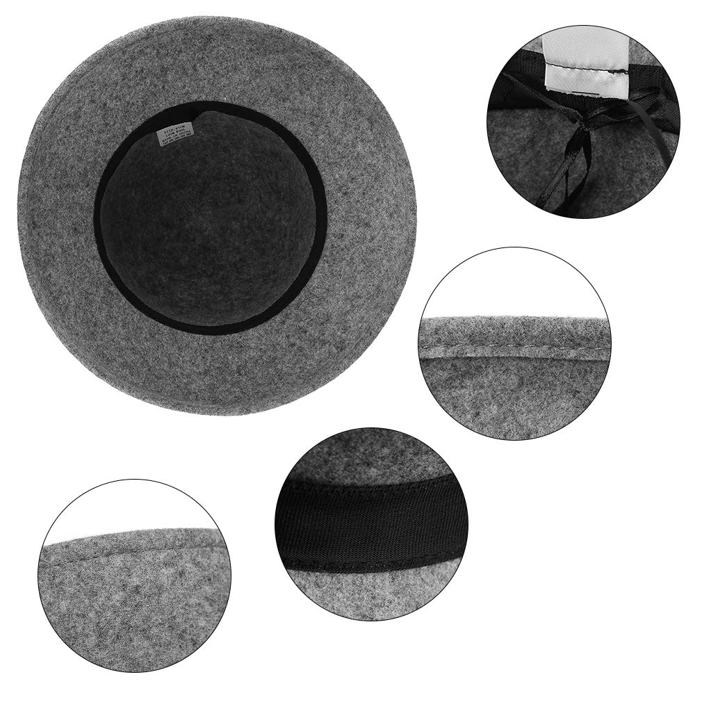 GEMVIE Womens Wool Felt Cloche Hat Decorative Snakeskin Pattern Bowknot Church Bowler Hats