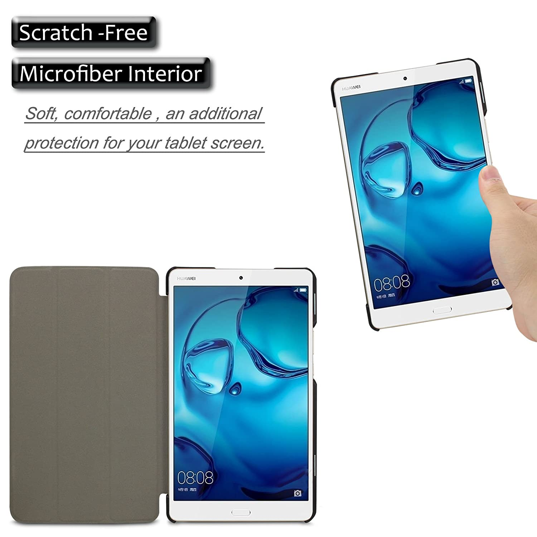 Infiland Huawei MediaPad M3 8.4 Case, Tri-Fold Ultra Slim Stand Smart Case Cover for Huawei MediaPad M3 8.0 Octa Core 8.4