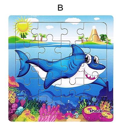 Amazoncom Wenasi Kids Wooden Puzzle Jigsaw Puzzles 20 Pcs For