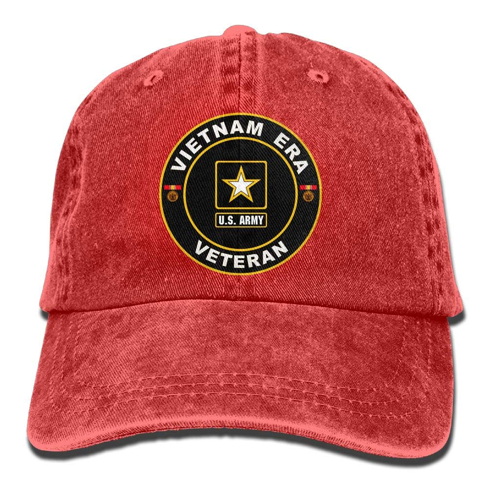 U.S. Army Vietnam Era Veteran Unisex Adjustable Cowboy Hat Vintage Cotton Denim Baseball Caps