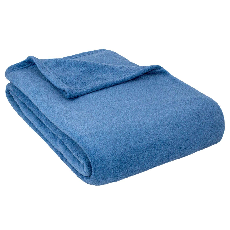 Cozy Fleece Inc.-Alta Luxury Hotel Fleece Blanket-Full-Denim