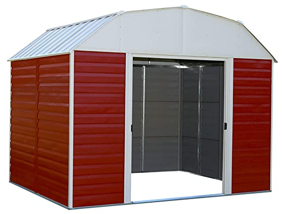 Flecha rh108 Red Barn - 10 pies por 8-Feet acero cobertizo ...