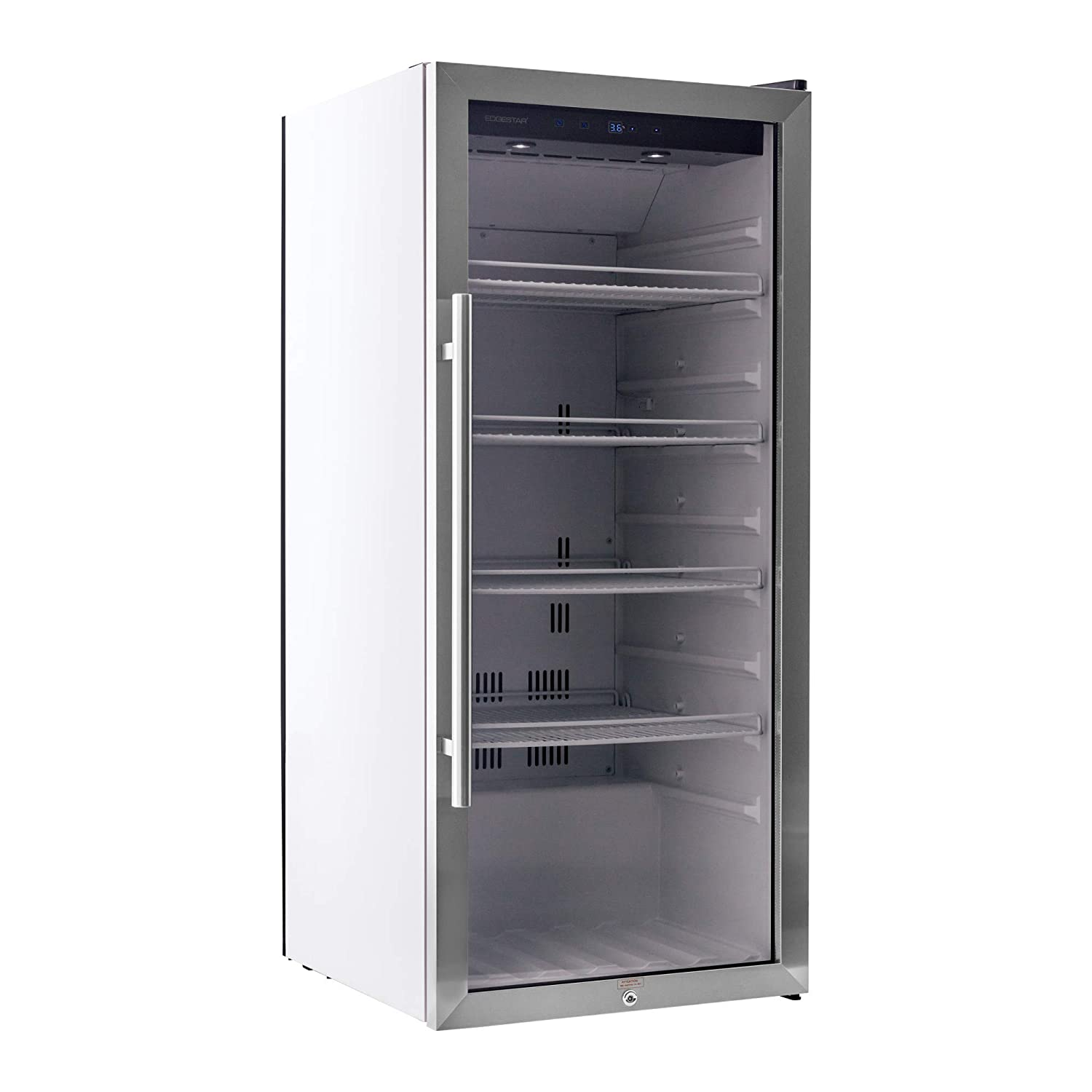e8e7f11981e Amazon.com  EdgeStar VBR240 Stainless Steel 22 Inch Wide 8.6 Cu. Ft.  Commercial Beverage Merchandiser with Temperature Alarm  Appliances
