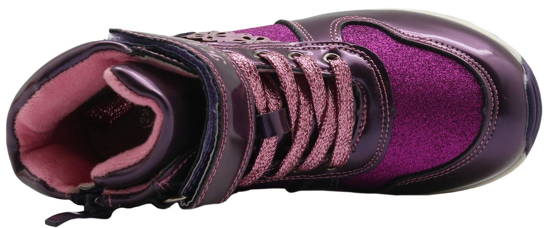 Toddler//Little Kid Non-Slip Autumn Kids Girls Shoes Fashion Ankle Boots Color : Purple , Size : 1 M US Little Kid Durable