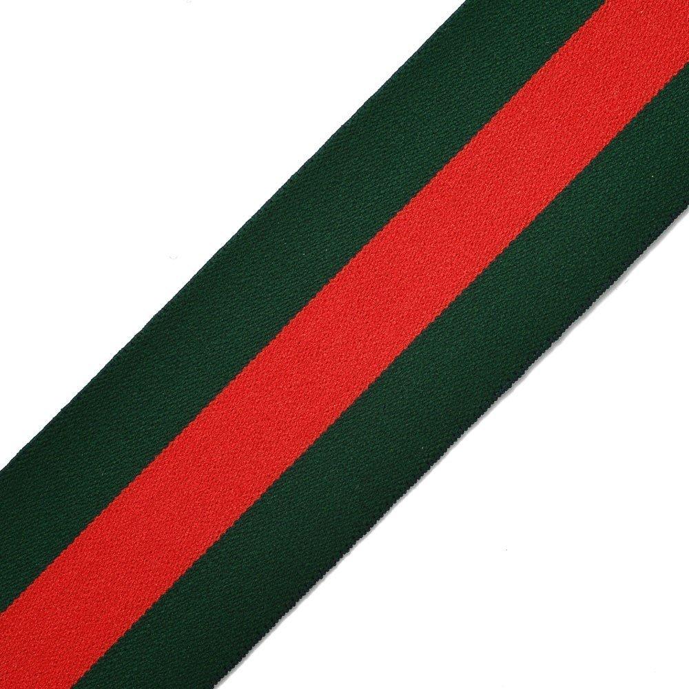 Green//Red Stripe Ribbon 1 Hand Band and Waist Belt 25mm Elastic Stretch Trim 1 Yard for Stretch Elastic Band Headband