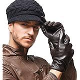NAPPAGLO メンズ 男性用 本革 羊革 手袋 手作り グローブ ライニング