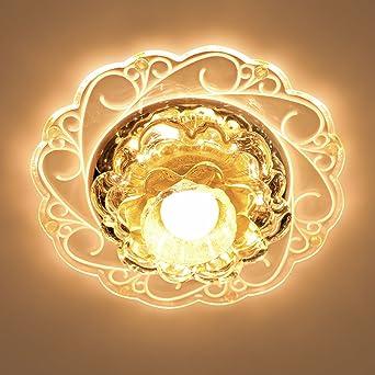 Hochwertig LED Ganglichter Flurbeleuchtung LED Strahler Decke Wohnzimmer  Deckenstrahler Wohnzimmerlampe Kristall Einbauleuchte