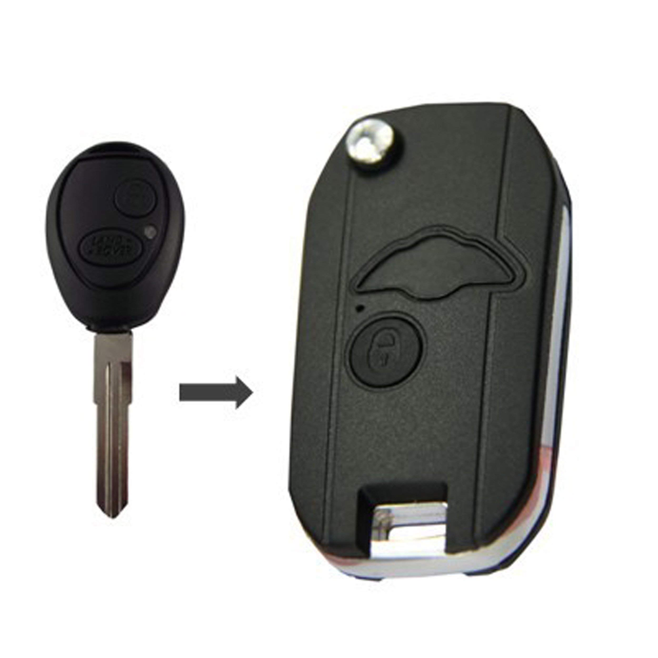 Land Rover Discovery II 2 Button Remote Uncut Key Blank Fob Shell 1999 2004