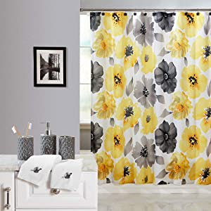 Beatrice Home Fashions Complete 19-Piece Bath Set Polyester,Ceramic,Base Metal Painterly Floral