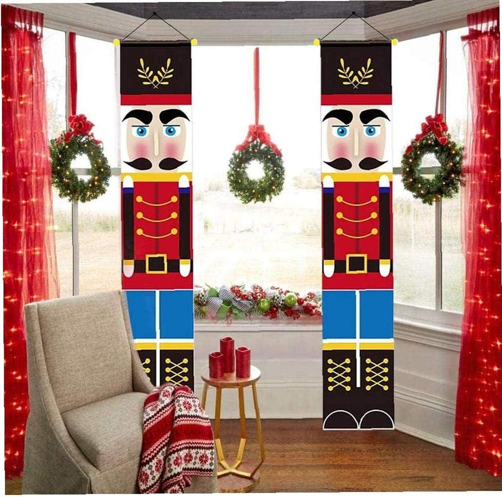 Schiaccianoci Banner Soldato Modello Decorazione Di Natale a Front Door Veranda Giardino Interni Esterni Bambini Party 2 Pezzi
