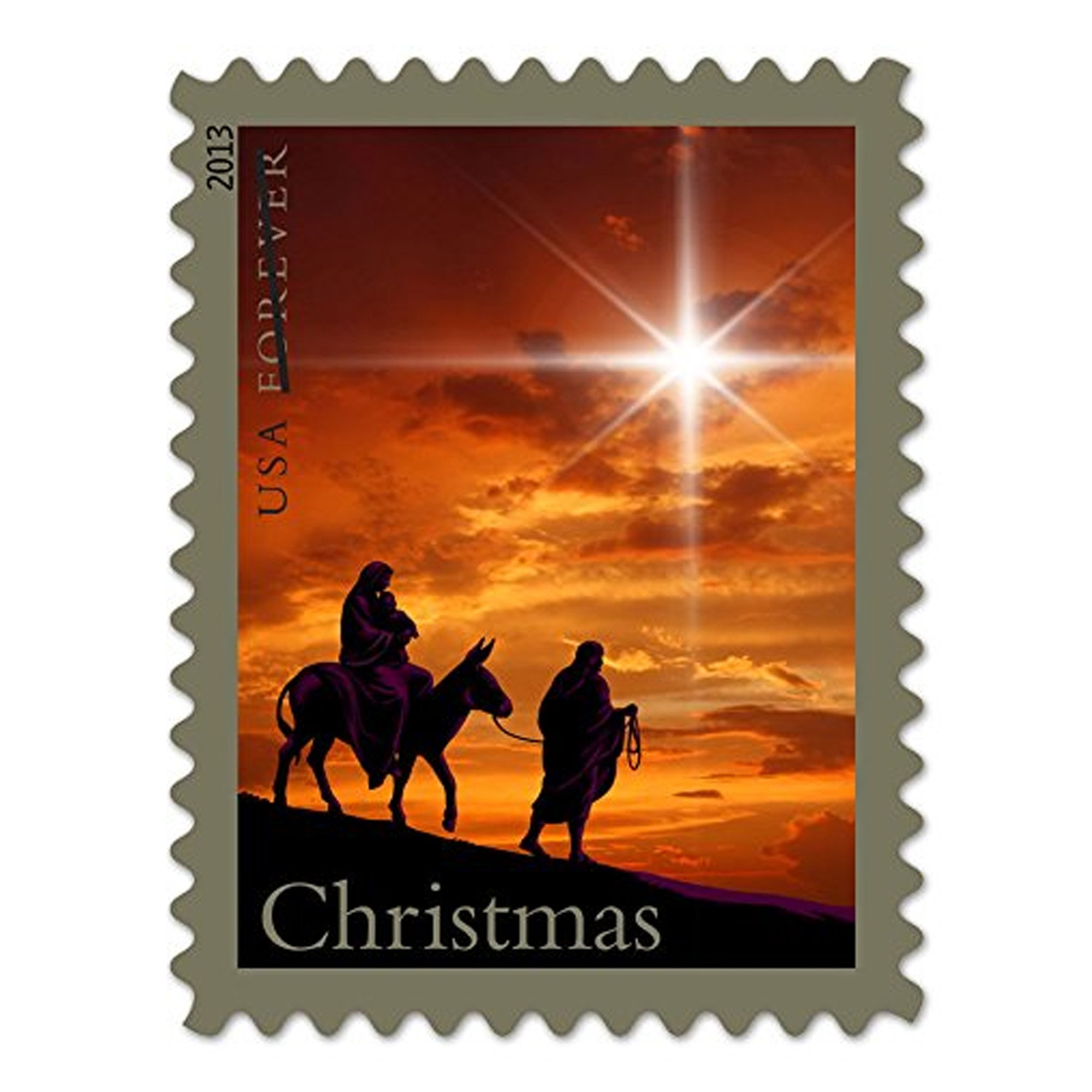 Holy Family Christmas 5 Sheets of 20 Forever Postage Stamp by USPS (Image #1)