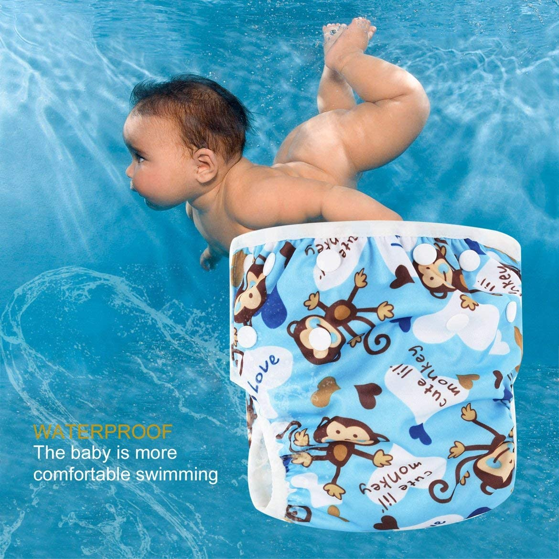 Waschbar Baby Unisex verstellbare Schwimmwindel Pool Hose wasserdicht wiederverwendbare Baby Training Schwimmwindel Badeanzug Multi-Color gemischt