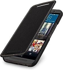 StilGut Book Type, Housse en Cuir pour HTC One M9, en Noir