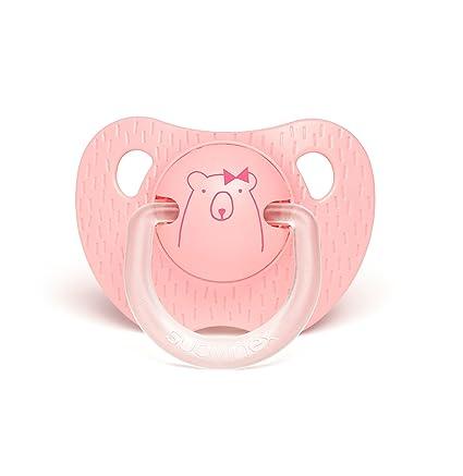 Suavinex 303318 - Chupete tetina anatómica silicona de 0 a 6 meses, color rosa oscuro