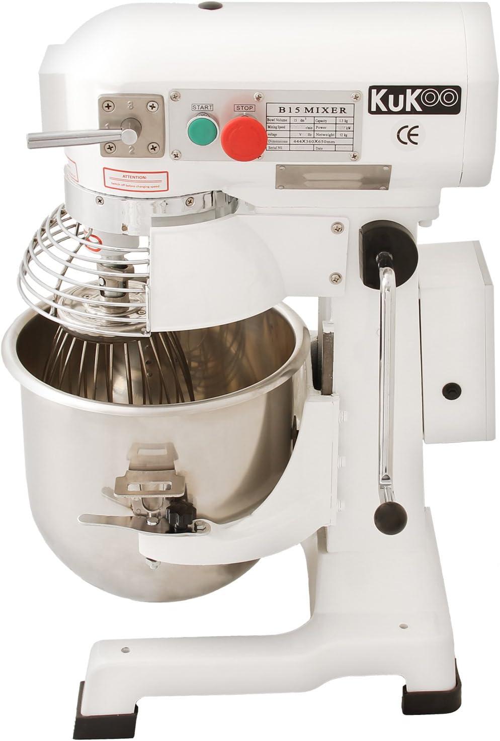 KuKoo Robot Batidora 550W Amasadora Repostería Profesional Robot ...