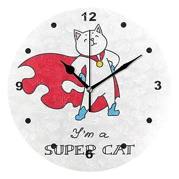 SUNOP Reloj para niños, diseño de Gato con Texto en inglés Im A